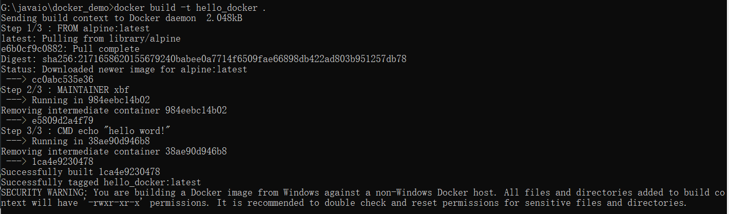 《【Docker】创建简单Docker镜像》